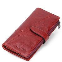 Women Wallets Brand Design High Quality Genuine Leather Wallet Female Hasp Fashion Dollar Price Long Women