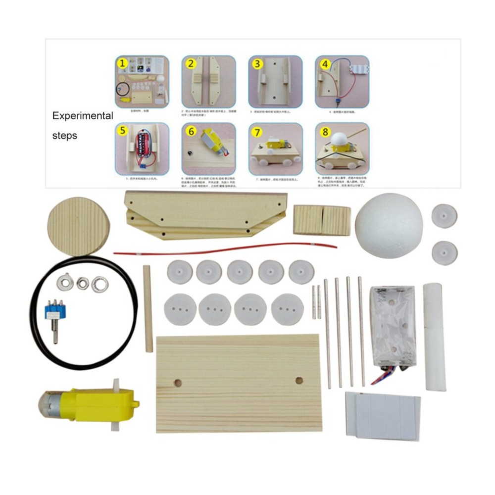 Kids DIY Manual Electric Tank Science Educational Toys Assembling Model Building Construction Puzzle Game Toy For Children Gift