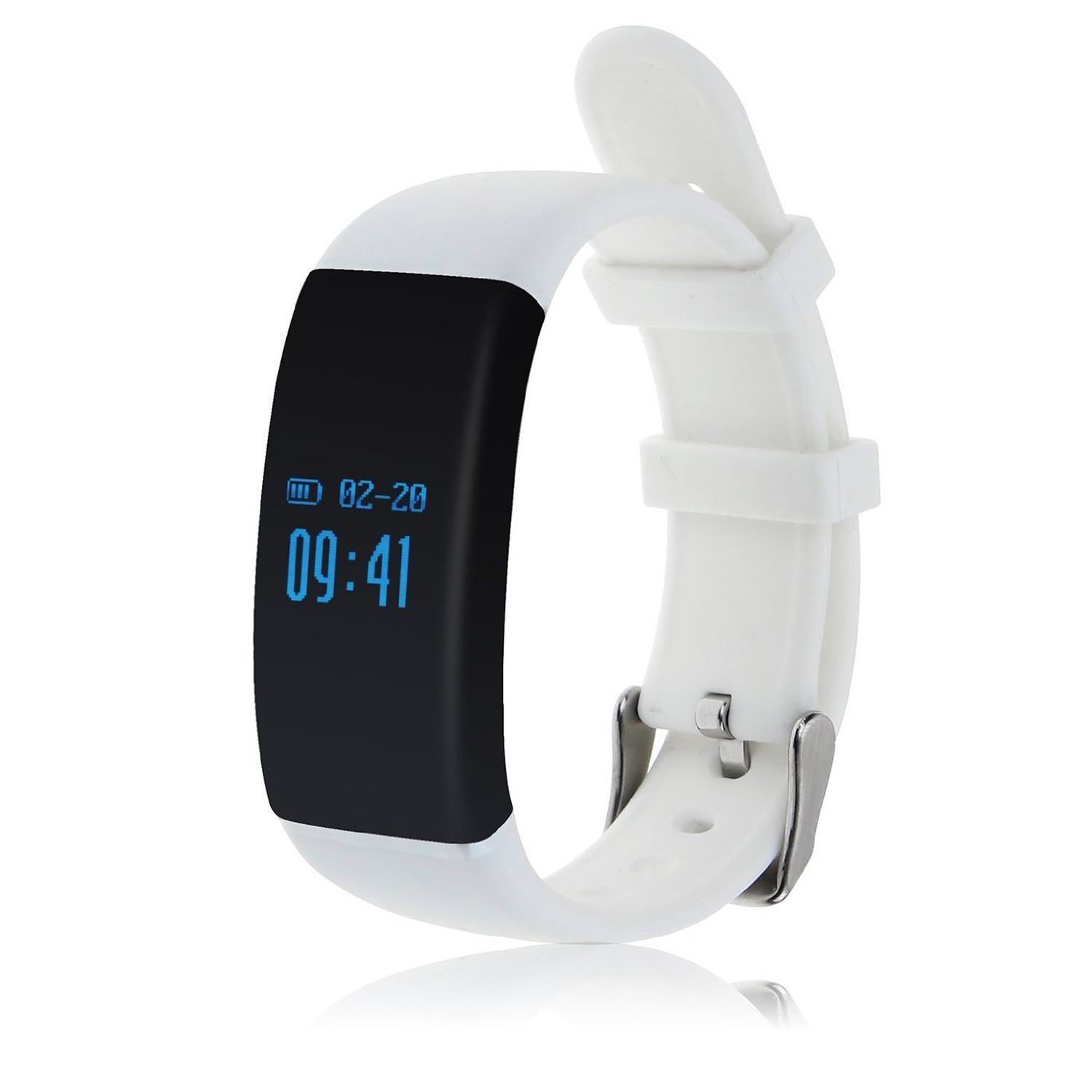 EDT-D21 Fitness Tracker,Touch Screen Accurate Sleeping Monitor Pedometer Smart Band Wireless Activity Wristband (White)
