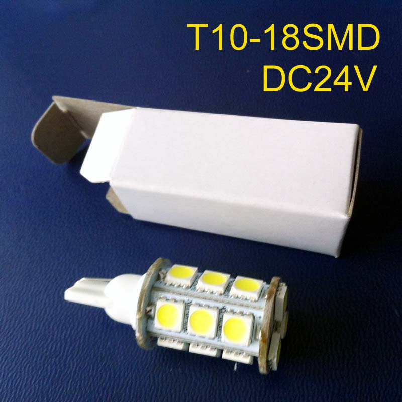 High quality 24v 10-30vdc T10 led interior light Signal light Warning light Pilot lamp 168,194,W5W,501 free shipping 2pcs/lot