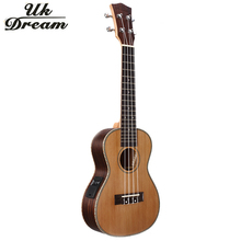 Small 23 Inch Electric Guitar Musical Instruments Four Strings 18 Frets Closed Knob Guitar Korean Pine