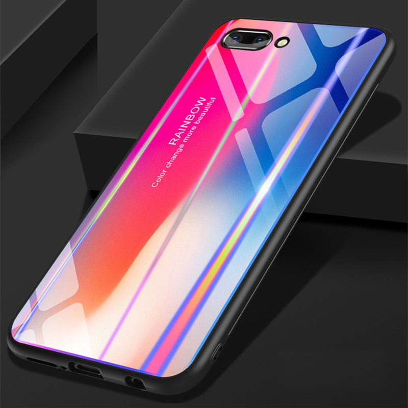 wholesale dealer c08a6 c5226 For Huawei Honor 10 Case Honor Play Discolor 9H Tempered Glass Aurora  Gradient Color Shockproof Case For Huawei Honor V10 Case