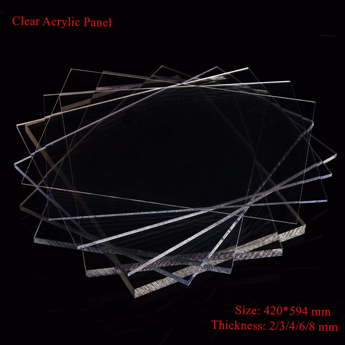1pc 2/3/4/6/8mm Acrylic Thickness Clear Perspex Sheet Cut 420x594mm Acrylic Sheet Plastic Panel Durable Doors