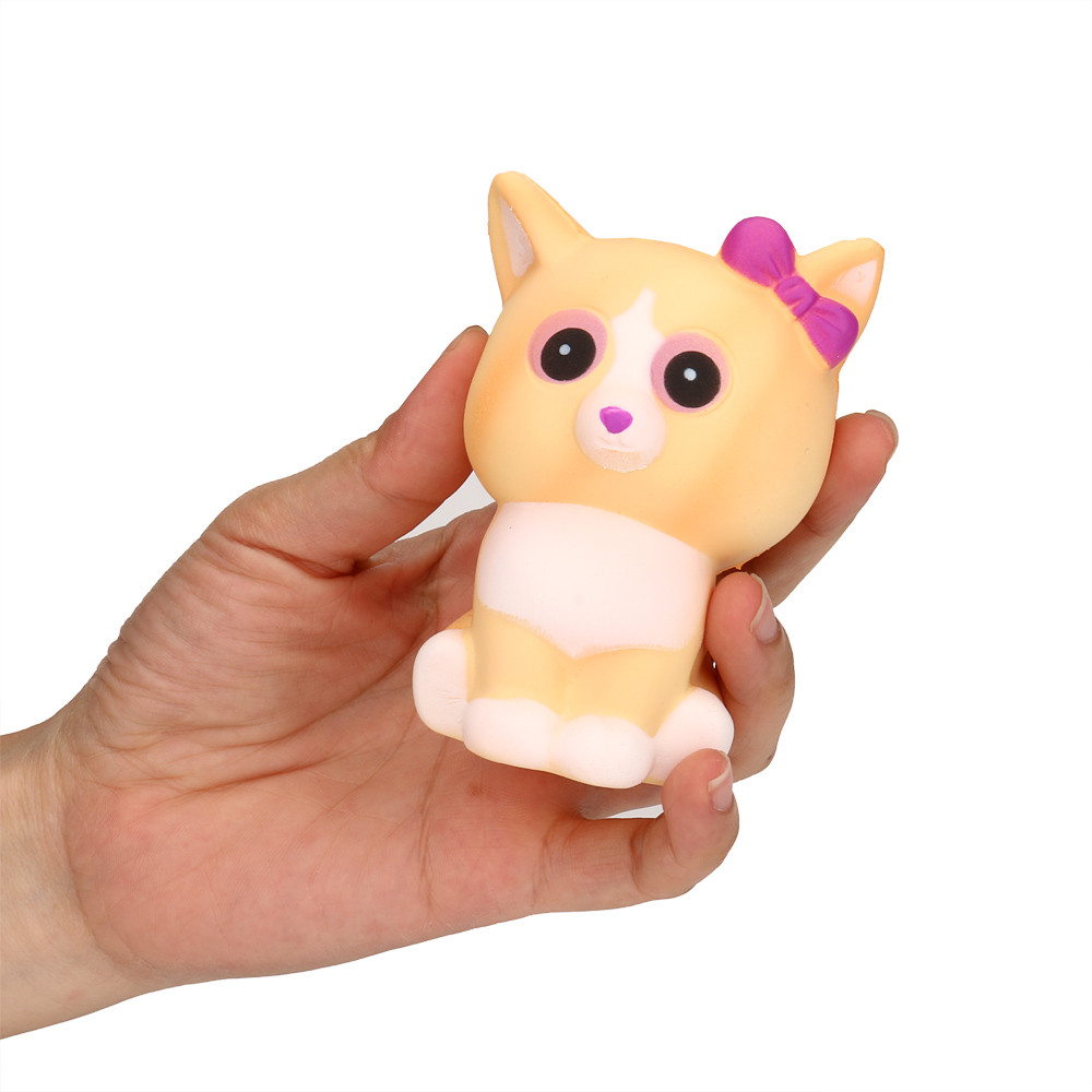 2019 New Hot Selling Squeeze Bow Cat Cream Bread Scented Slow Rising Toys Phone Charm Gifts    6.10
