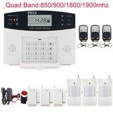 Voz clara 433 MHz seguridad para el hogar sistema de alarma 99 zonas de defensa inalámbrica Sistema de Alarma antirrobo GSM Envío Libre