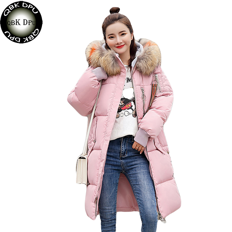 Heavy hair collar Winter long jacket Women Snow wear fashion thicken   parkas   female 2018 hot selling warm coat overcoat