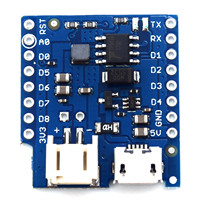 Battery Shield For WeMos D1 Mini Single Lithium Battery Charging Boost