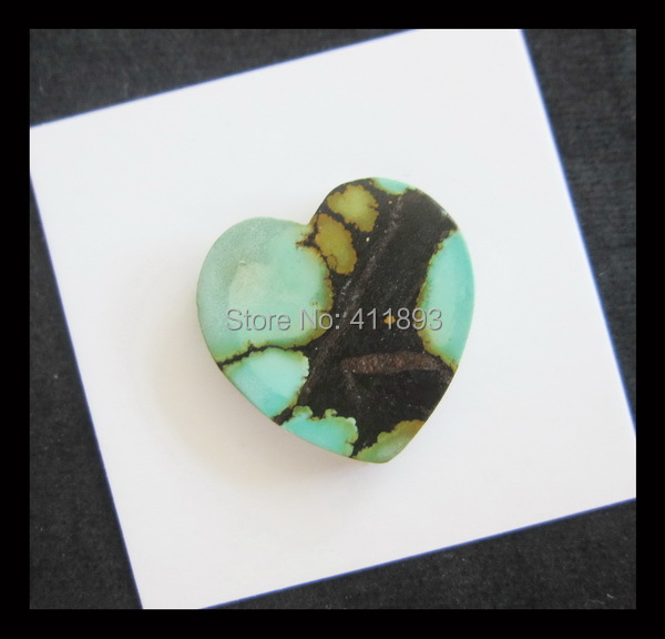 Carved Natural Turquoise Cabochons,20x4mm,3.38g