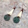 Glamour Retro Brincos de Pingente de mulher verde Brincos longos liga frete grátis