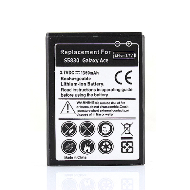 High Quality 3.7V 1350mAh EB494358VU For Samsung Galaxy Ace S5830 Gio S5660 S5670 Pro B7510 i569 Replacement Phone Battery