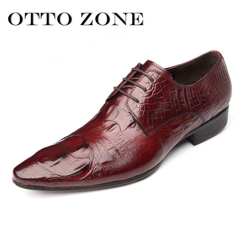 Men's Shoes Otto Italy Luxury Men Shoes Handmade Oxford Retro Shoes Genuine Crocodile Cow Leather Lace-up Classic Designer Platform Shoes