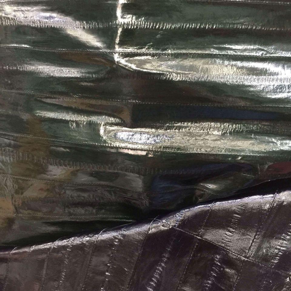 Éco-teint Véritable Anguille Peau En Cuir Tissu, 135 cm * 70 cm, pour Sandale/Bourse/Vêtement, Livraison gratuite