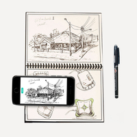Elfinbook 2 0 Smart Reusable Erasable Notebook Tracelessness Everlast Microwave Cloud Erase Evernotes Organized Notepad With