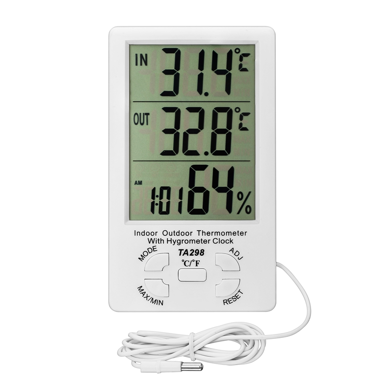 Digital LCD Indoor//Outdoor Thermometer Hygrometer Meter Temperature Humidity WH
