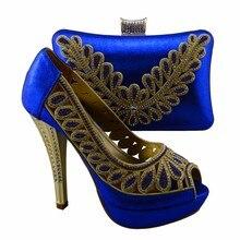 2017 neue Design Hochwertigen Italienischen Passenden Schuhe und Taschen Set Afrikanische Frauen Schuhe Und Taschen Für Party 1308-L71