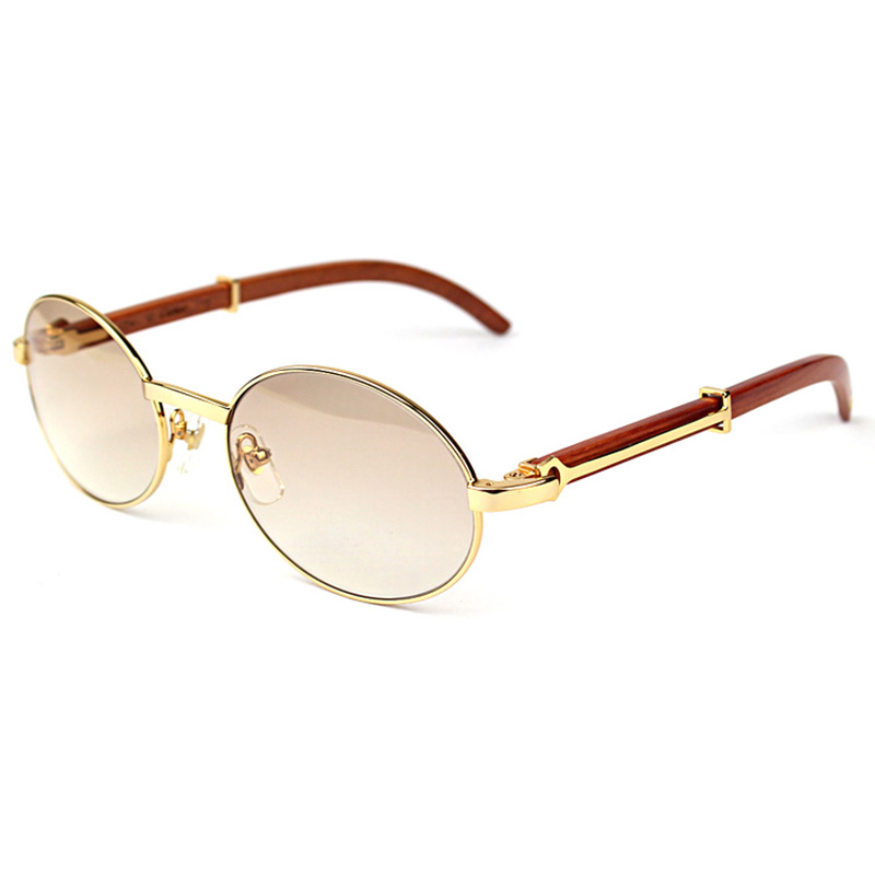 Lunettes de soleil ovales Maroon Birchen Earpieces Carter hommes lunettes de soleil marque Designer bois soleil verre femmes bois cadre lunettes nuances