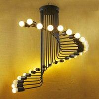 Оптовая продажа черный подвесной светильник Современный Винтаж промышленные Эдисон 26 лампы светильники крючок, кафе, ресторан спальни Лоф