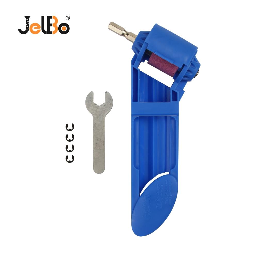 Jelbo Spitzer Mini Bohrer Blau/Orange Twist Bohrer Grinder Braun Korund Schleifen Rad Schleifen Maschine Polieren Werkzeug