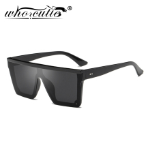 Retro Black Square sunglasses Men Women 2019 Brand Design Vintage Shield Frame Sun