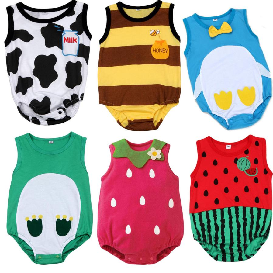 2018 Summer Newborn Kids Baby Boy Girl Infant Romper Jumpsuit Clothes Cherryb