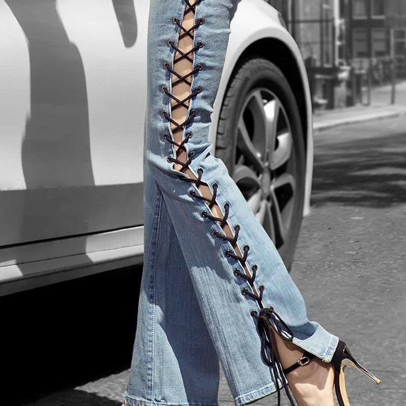 Jeans Woman Loose Wide Leg Flare Pants Tassel Summer New Side Fork Horn Jeans For Women Vintage Denim Pants Femme jones new york new black side buckle wide leg women s size 14 dress pants $89