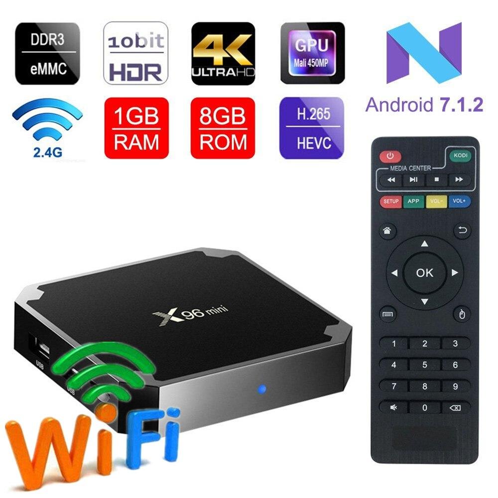X96 mini Android 7.1.2x96 TV BOÎTE 2 gb andriod tv box Amlogic S905W Quad Core Suppot H.265 UHD 4 k WiFi X96mini Set-top box tvbox