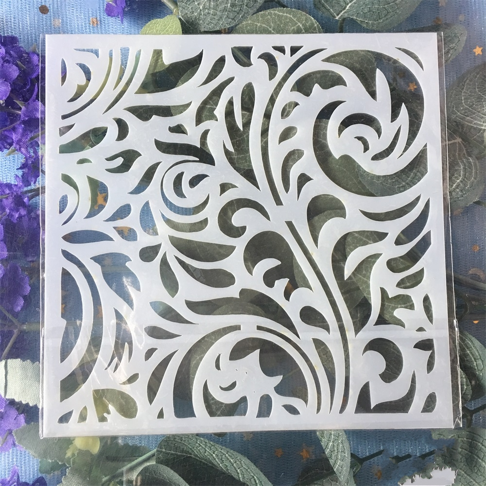 New 13cm Flower Background DIY Craft Layering Stencils Wall Painting Scrapbooking Stamping Embossing Album Card Template