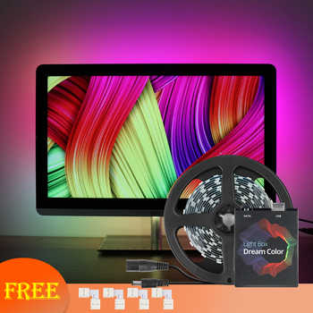 WS2812B Ambilight - TV RGB USB LED Strip Light Desktop PC Screen Backlight Lighting Digital LED Strip Kit 1M 2M 3M 4M 5M - DISCOUNT ITEM  40% OFF All Category