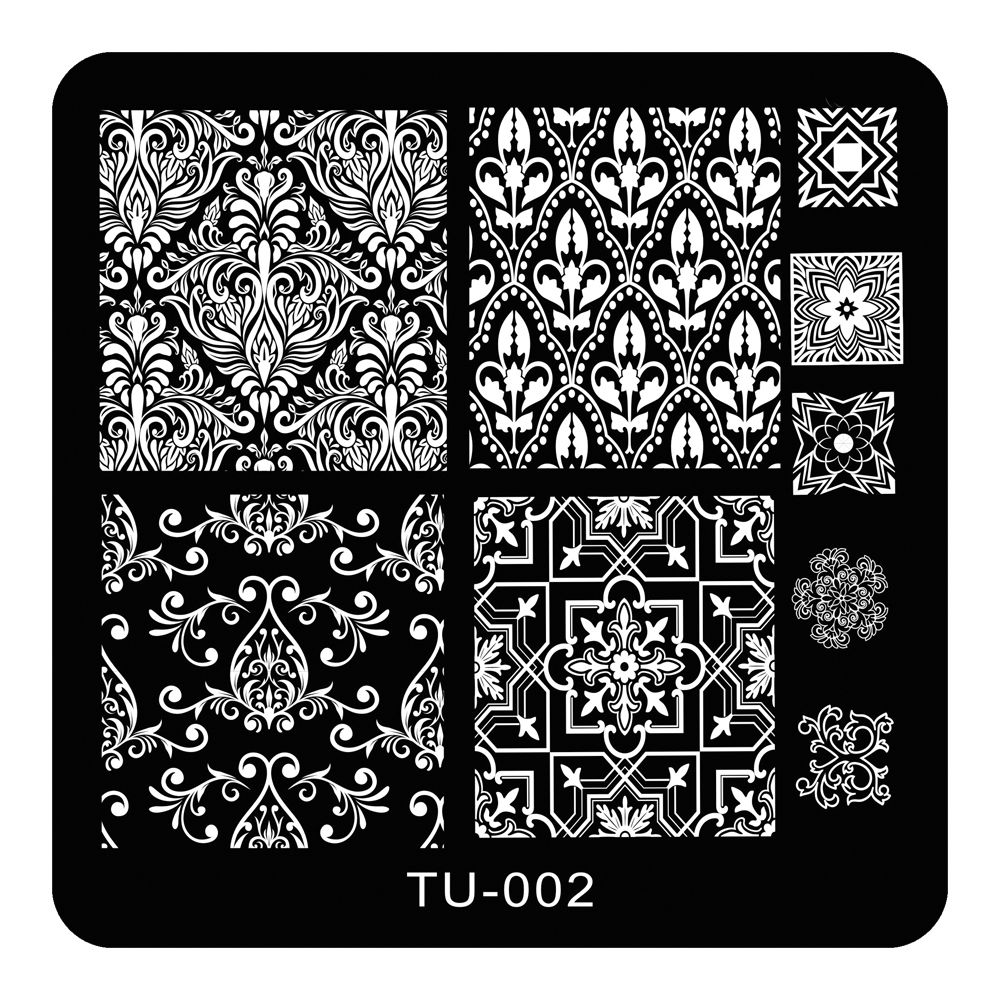 1pc Nail Stamping Plate Classic Nail Art Stamping Template Flower ...
