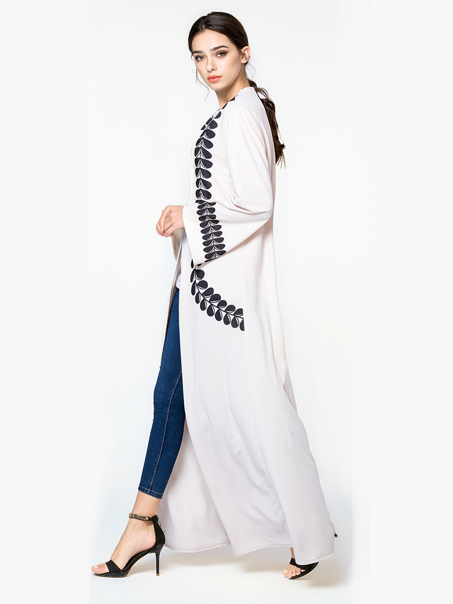 Abaya Cardigan Print Robe 2