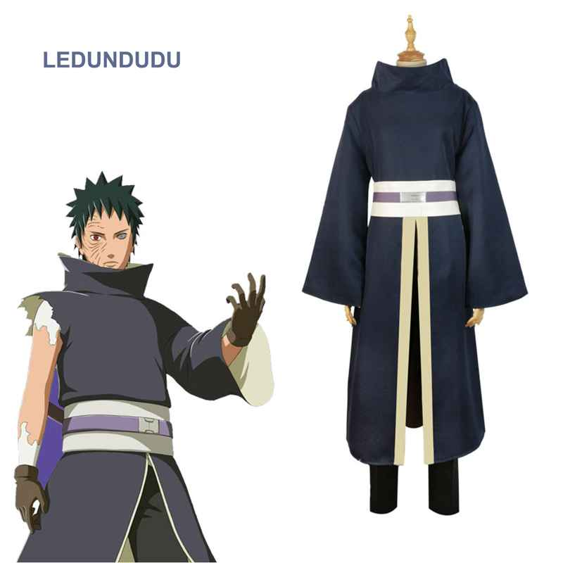 Japan Anime Naruto Akatsuki Tobi Uchiha Obito Cosplay Costumes Men Halloween Party Uniform Suit Complete Full Set