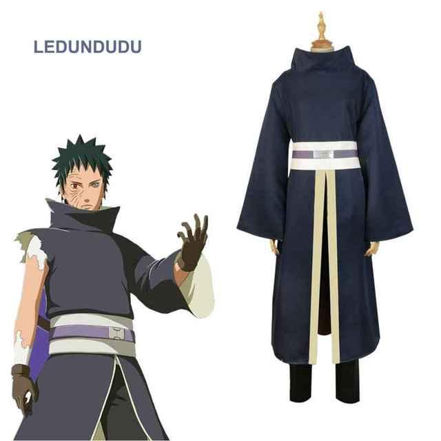 Naruto Anime japonés Akatsuki Tobi Uchiha Obito Cosplay disfraces hombres  Halloween fiesta uniforme conjunto completo 675d5223bf5