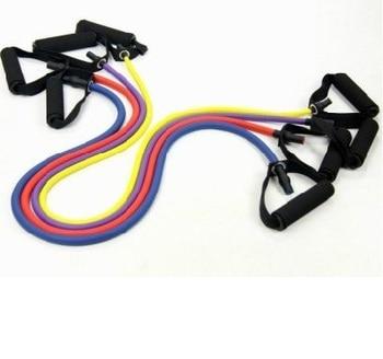 Entrenamiento de fuerza de látex 25-50 libras home gym bandas de resistencia a la aptitud tubos de ejercicio de tracción (1 Unidad) Envío Gratis