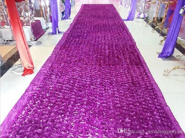 Fashion Purple Theme Wedding Centerpieces Favors 3D Rose Petal