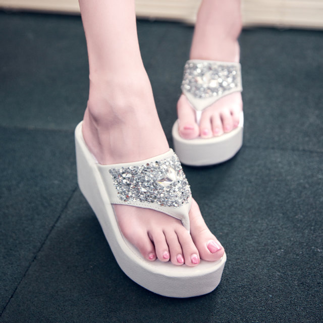 Fashion Women Slippers Bling Brand Slipper Flat Casual Shoes Slip On -5926