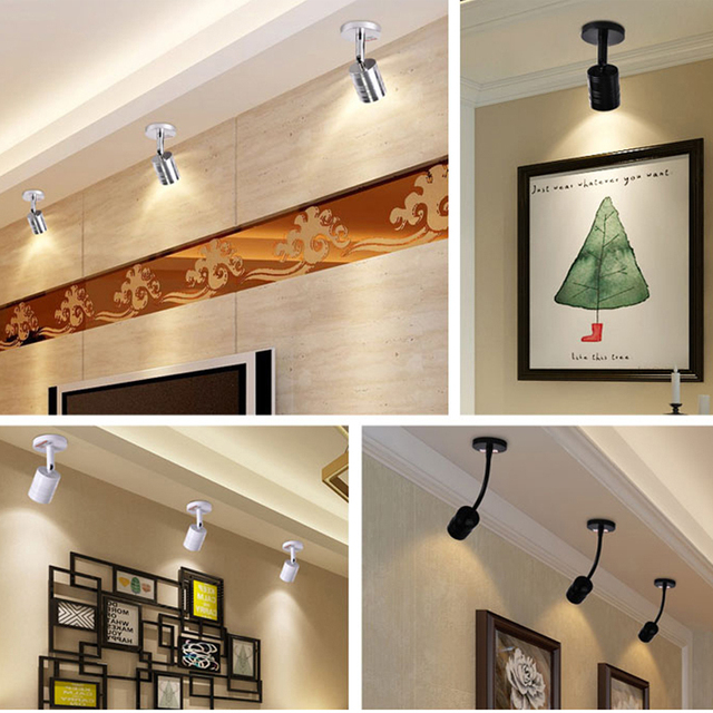 Plafonnier de présentoir mural 5W 3 W, éclairage à la Surface 220 V, support de Downlight, vitrine murale, bijoux, lampe de comptoir, plafond, vêtements, éclairage de magasin