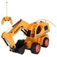 Kids RC Car Wireless Diecast mini 5CH Construction Vehicle Engineering rc Car Dump car Dump Trucks Model Toy Gift For Boys