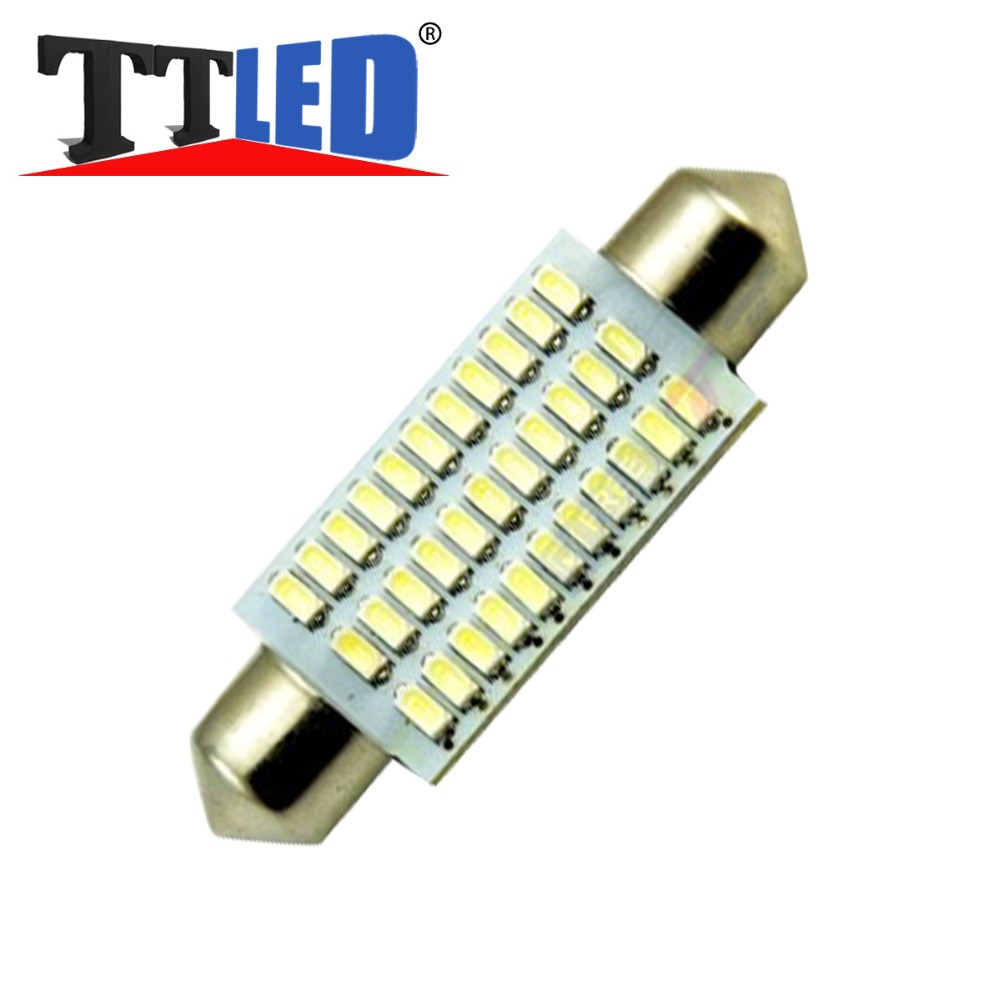 10pcs Led 578 42mm 3014 33smd Dome Light Bulb For Chevrolet Silverado 1500 2500 3500 Hd 2 2