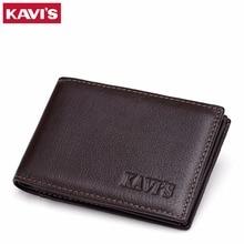KAVIS 15 Slots Genuine Leather Women Men ID Card Holder Card Wallet Purse Credit Card Business Card Holder Protector Organizer