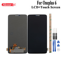Alesser для Oneplus 6 ЖК дисплей и сборка сенсорного экрана Запчасти с инструментами и клеем для One plus 6 OnePlus 6 lcd