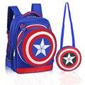 2017 New School Backpacks avengers captain america cartoon schoolbags for kids children shoulder bags mochila infantil boy bag