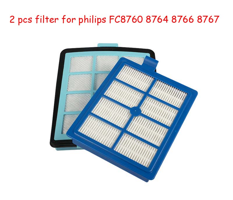 1pc Intake vents HEPA Filter+1 pc Exhaust vents filter for philips FC8766 FC8767 FC8760 FC8764 vacuum cleaner parts Replacement цены