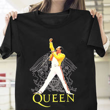 Freddie Mercury Queen T Shirt Black Cotton Men T-Shirt Summer 2018 Short Sleeve Plus Size New Fashion