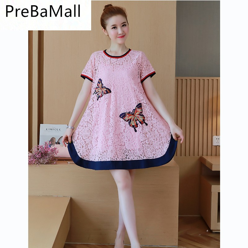 Maternity Embroidered Butterfly Dresses Lace Cropped Sleeve Maternity Dress Sexy Elegant Pregnant Clothing Suit For Women B0540 cropped wide sleeve top