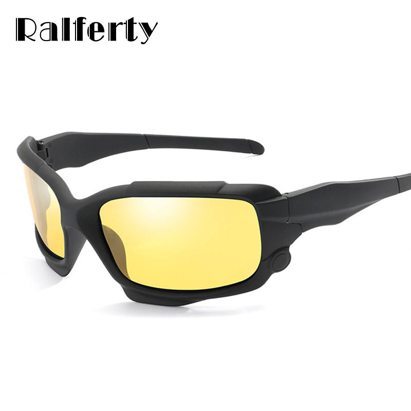 c0c9e43205 Ralferty HD Polarized Night Vision Goggles Men Yellow Lens Driving Glasses  Male Anti Glare Car Sport Eyewear gafas de sol K1013-in Sunglasses from  Men s ...