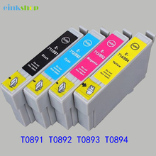 1set Ink Cartridge for Epson T0891 T0892 T0893 T0894 Ink Cartridge for Epson S22 21 510 410 100 110 105 200 210 205 115 printer цена 2017