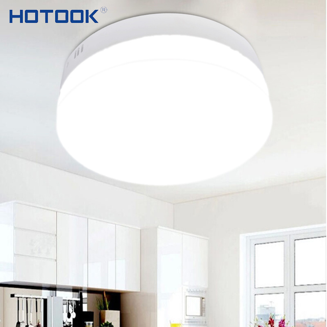 HOTOOK Led Panel 6W 12W 18W 24W MiniSquare Round Surface Mounted LED Downlight Dimmable Ceiling lamp for Home Kitchen LivingRoom
