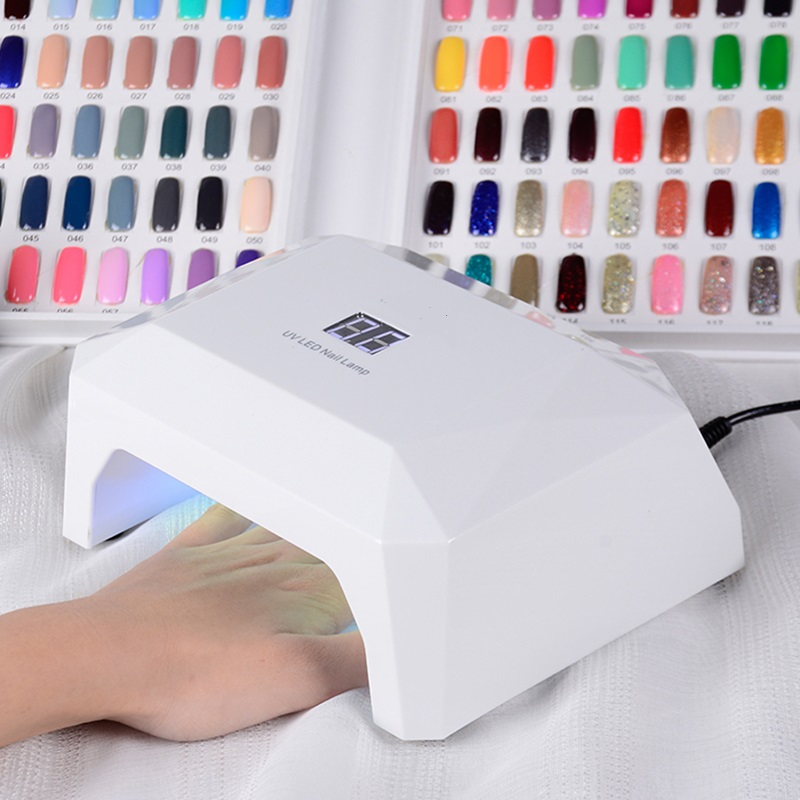 LANGOA 36W UV LED Nail Lamp Nail Dryer Gel Polish Curing Light with LCD display Polish Machine for Curing Nail Gel Art t2n2 24w nail dryers uv mini led lamp nail dryer polish machine curing light with lcd display manicure machine for all gels