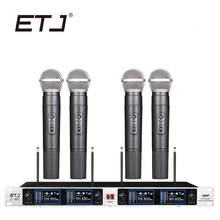 ETJ Mutável Marca Profissional VHF Microfone Sem Fio Bodypack Handheld Headset Microfone De Lapela U-407