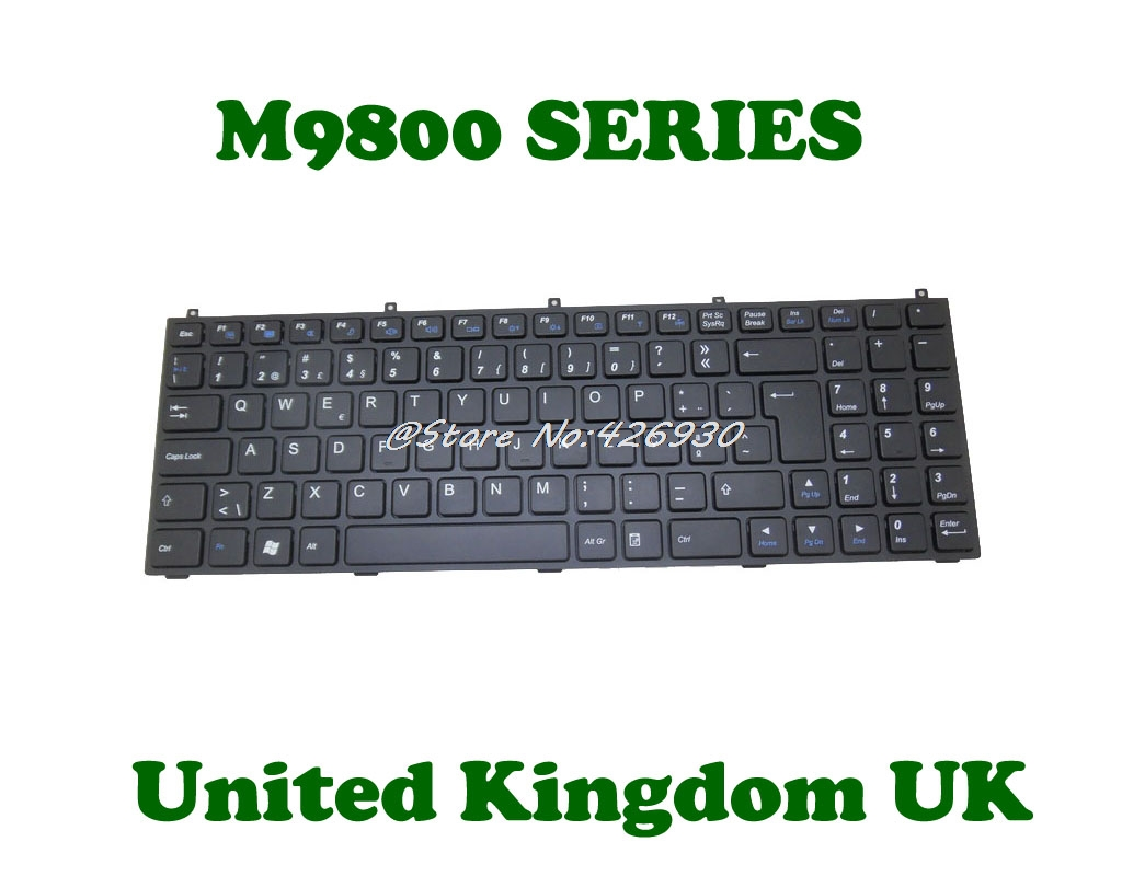 Laptop Keyboard for CLEVO MP-12C96DK-4303W 6-80-W55S0-030-1 Denmark DM Without Frame